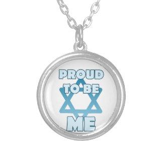 Stolz, jüdisch zu sein versilberte kette