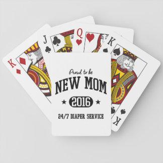 Stolz, junge Mutter 2016 zu sein Spielkarten