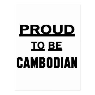 Stolz, kambodschanisch zu sein postkarte
