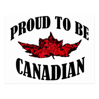 Stolz, kanadisch zu sein postkarte