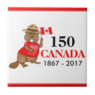 Stolz kanadischer Jahrestag des Biber-150 Kleine Quadratische Fliese