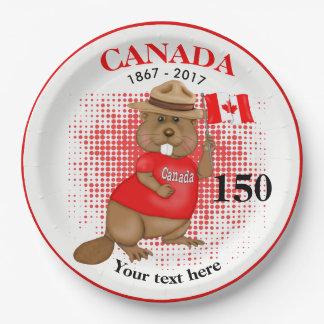 Stolz kanadischer Jahrestag des Biber-150 Pappteller 22,9 Cm