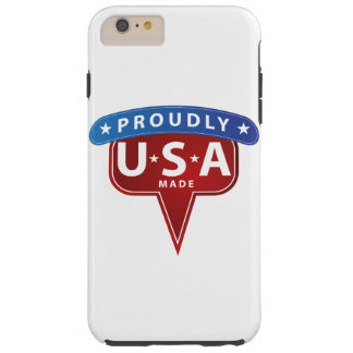 Stolz machten USA Emblem Tough iPhone 6 Plus Hülle