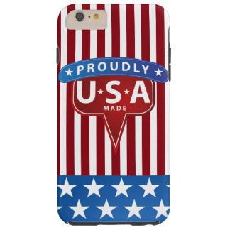 Stolz machten USA Flagge Tough iPhone 6 Plus Hülle