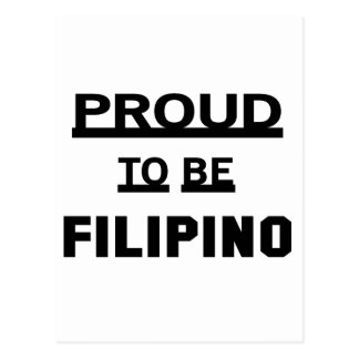 Stolz, philippinisch zu sein postkarte