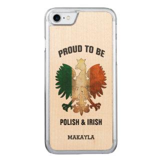 Stolz, polnisch und Iren zu sein Carved iPhone 8/7 Hülle