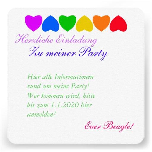 Stolz-Regenbogen-Herz-Linie Individuelle Ankündigungskarte
