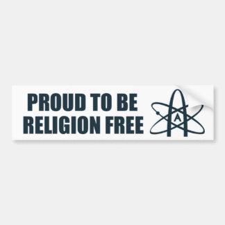 Stolz, Religion zu sein geben Sie frei! Autoaufkleber