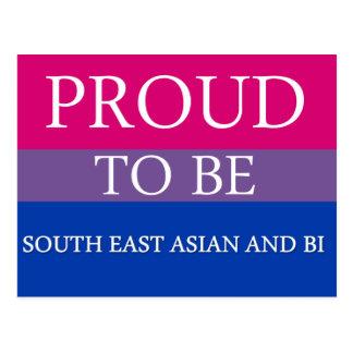 Stolz, südostasiatisch und Bi zu sein Postkarte