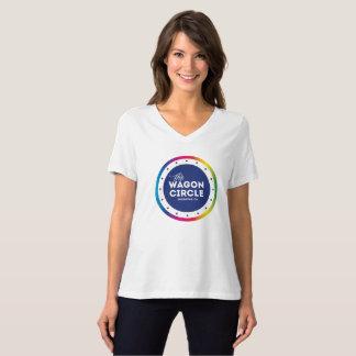Stolz-T-Stück der V-Hals der Frauen T-Shirt