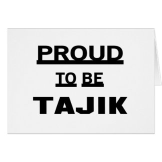 Stolz, Tajik zu sein Karte