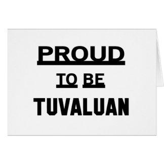 Stolz, Tuvaluan zu sein Karte