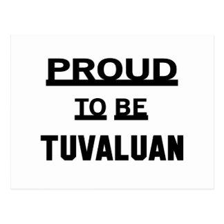 Stolz, Tuvaluan zu sein Postkarte