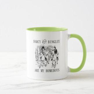 Stolz u. Vorurteil Darcy u. Bingley Homeboys-Tasse Tasse