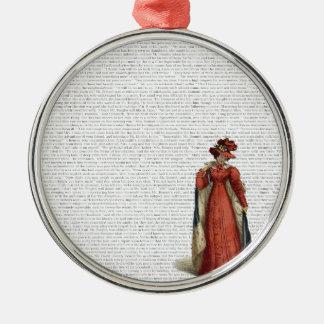 Stolz u. Vorurteil Rundes Silberfarbenes Ornament