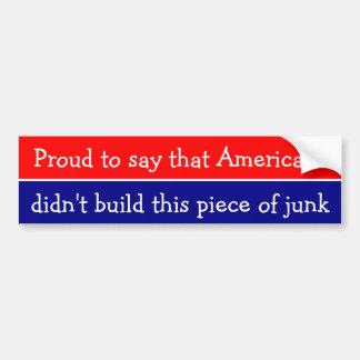 Stolz, zu sagen dass Amerikaner… Autoaufkleber
