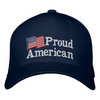 Stolze amerikanische Flagge Notiz: Baseballcap