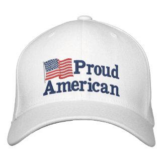 Stolze amerikanische Flagge W Bestickte Baseballmütze