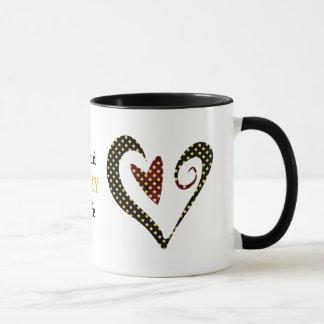 Stolze Armee-Ehefrau-Herz-Sterne Tasse