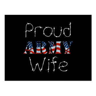 Stolze Armee-Ehefrau Postkarte