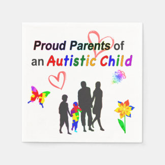 Stolze Autismus-Eltern Servietten