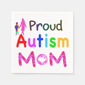 Stolze Autismus-Mamma Papierservietten