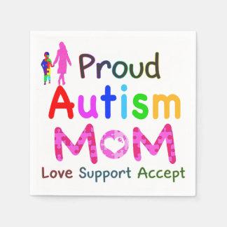 Stolze Autismus-Mamma Servietten