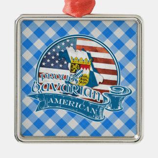 Stolze bayerische amerikanische Metalldekoration Quadratisches Silberfarbenes Ornament