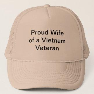 Stolze Ehefrau eines Vietnam-Veterans Truckerkappe