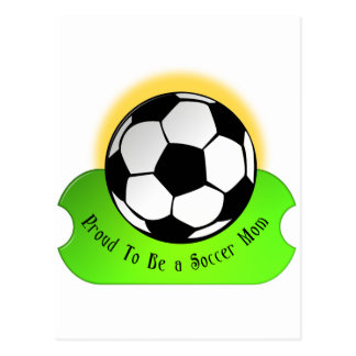 Stolze Fußballmamma Postkarte