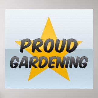 Stolze Gartenarbeit Plakatdruck