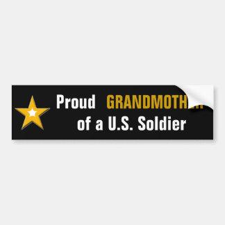 Stolze Großmutter eines US-Soldaten Autoaufkleber