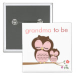 Stolze Großmutter zum zu sein u. Baby-Eule Anstecknadelbutton