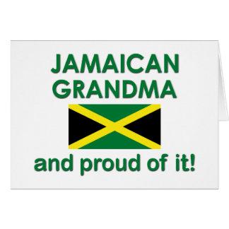 Stolze jamaikanische Großmutter Karte