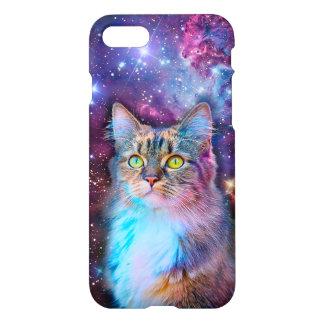Stolze Katze mit Raum-Hintergrund iPhone 8/7 Hülle