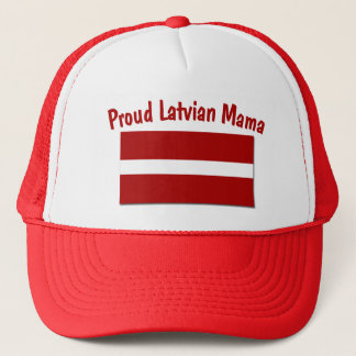 Stolze lettische Mutter Truckerkappe