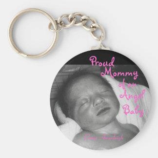 Stolze Mama eines Engels-Babys Standard Runder Schlüsselanhänger