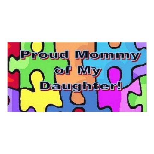 Stolze Mama meiner Tochter Foto Karten Vorlage