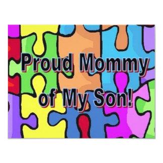 Stolze Mama meines Sohns 10,8 X 14 Cm Einladungskarte