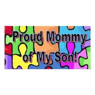 Stolze Mama meines Sohns Foto Karte