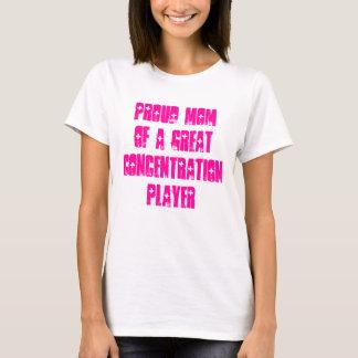 Stolze Mamma eines Konzentrations-Spieler-T-Stücks T-Shirt