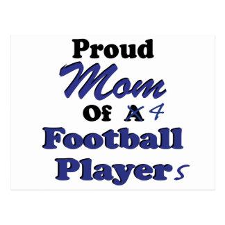 Stolze Mamma von 4 Fußball-Spielern Postkarte