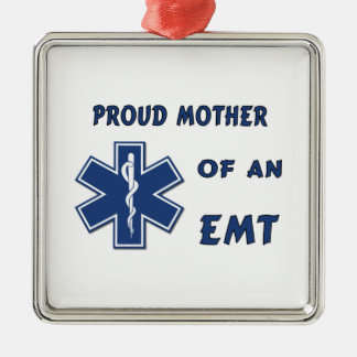 Stolze Mutter eines EMT Silbernes Ornament