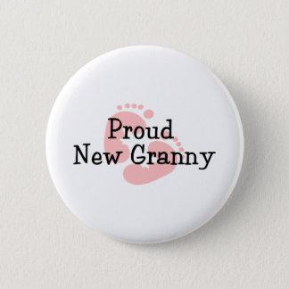 Stolze neue Oma-Baby-Abdrücke Runder Button 5,1 Cm