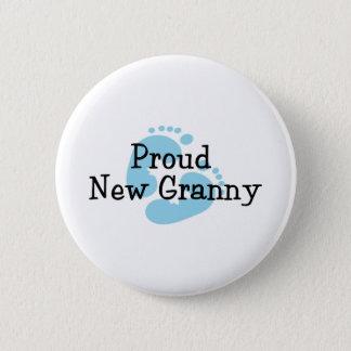 Stolze neue Oma-Baby-Abdrücke Runder Button 5,7 Cm