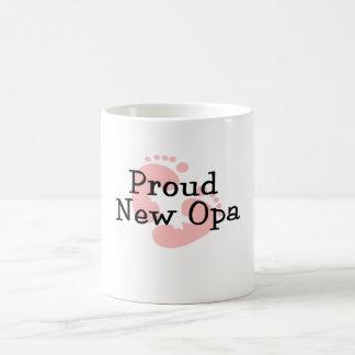 Stolze neue Opa Baby-Abdrücke Kaffeetasse