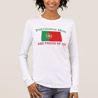 Stolze portugiesische Mamma Langarm T-Shirt