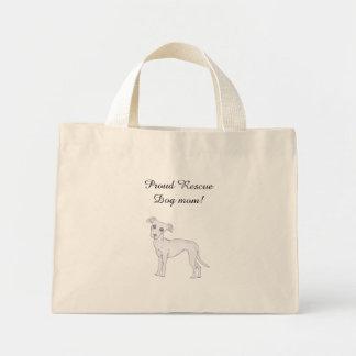 Stolze Rettungs-Hundemamma! Mini Stoffbeutel