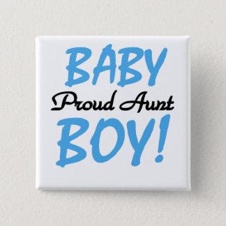 Stolze T-Shirts und Geschenke Tanten-Baby Quadratischer Button 5,1 Cm