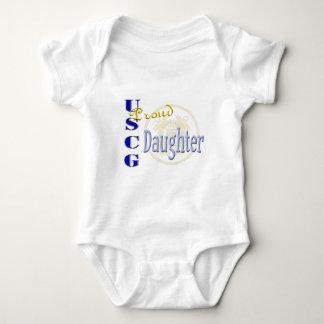 Stolze USCG Tochter Baby Strampler